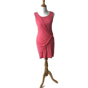 Velvet Pink Fitted Side Twist Dress Large